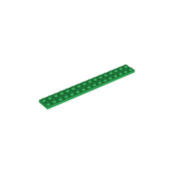 LEGO 428224 - PLATE 2X16 - DARK GREEN