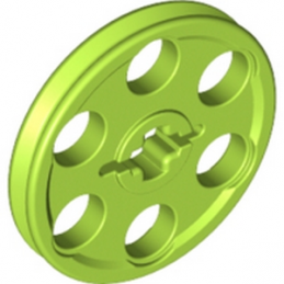 LEGO 4494219 - WEDGE-BELT WHEEL Ø24 - BRIGHT YELLOWISH GREEN