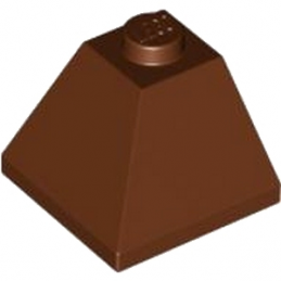 LEGO 4652624 CORNER BRIQUE 2X2/45° OUTSIDE - REDDISH BROWN
