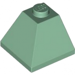 LEGO 4153761 CORNER BRIQUE 2X2/45° OUTSIDE - SAND GREEN