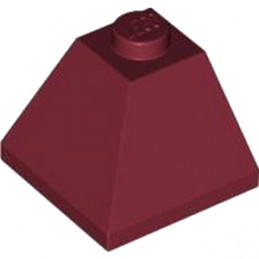 LEGO 4224301 CORNER BRIQUE 2X2/45° OUTSIDE - NEW DARK RED