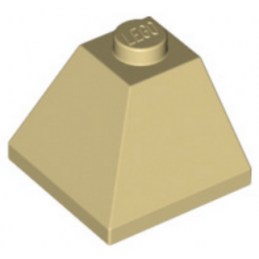 LEGO 304505 CORNER BRIQUE 2X2/45° OUTSIDE - BEIGE