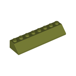 LEGO 6064658 TUILE 2X8/45° - OLIVE GREEN