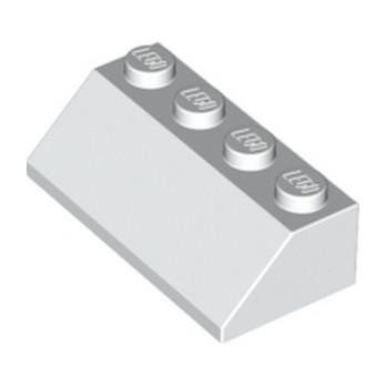 LEGO 303701 TUILE 2X4/45° - BLANC