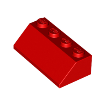 LEGO 303721 TUILE 2X4/45° - ROUGE