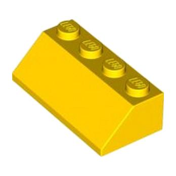 LEGO 303724  TUILE 2X4/45° - JAUNE