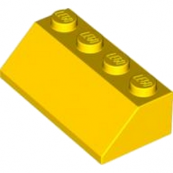 LEGO 4219911 TUILE 2X4/45° - JAUNE
