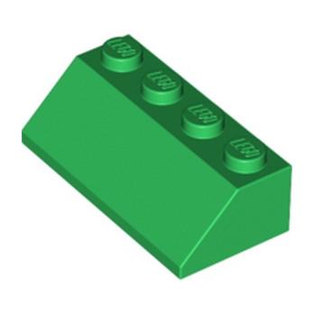 LEGO 303728 TUILE 2X4/45° - DARK GREEN