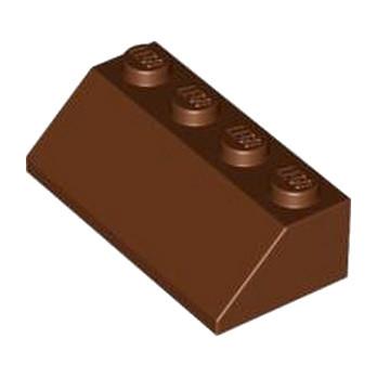 LEGO 4211205 TUILE 2X4/45° - REDDISH BROWN