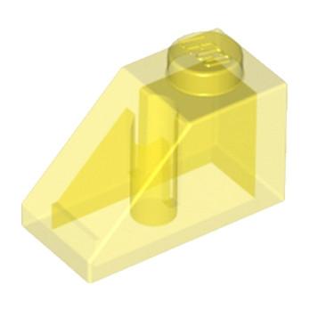 LEGO 4114130 - TUILE  1X2/45° - JAUNE TRANSPARENT