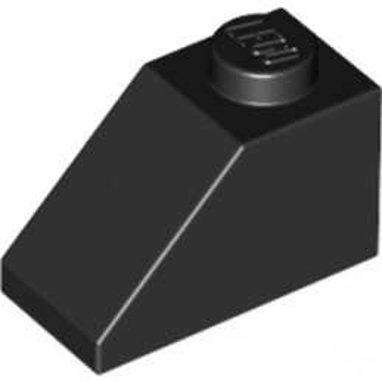 LEGO 304026 TUILE 1X2/45° - NOIR lego-4121966-tuile-1x245-noir ici :