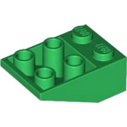 LEGO 4113071 TUILE 2X3/25° INV. - DARK GREEN