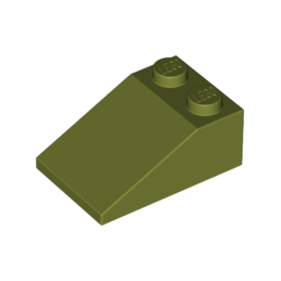 6064669 	ROOF TILE 2X3/25° - Olive Green