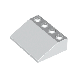 LEGO 329701 ROOF TILE 3X4/25° - BLANC