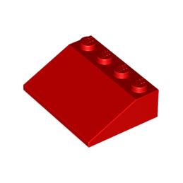 LEGO 329721 ROOF TILE 3X4/25° - ROUGE