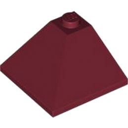 4600461 	CORNER OUTSIDE 3X3/25° - New Dark Red
