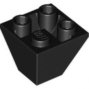 LEGO 367626 TUILE CORN. INVERT.2X2/45° - NOIR