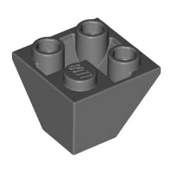 LEGO 4210862 TUILE CORN. INVERT.2X2/45° - DARK STONE GREY