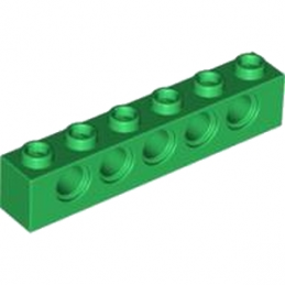 LEGO 4200558 - TECHNIC BRIQUE 1X6, Ø4,9 - DARK GREEN