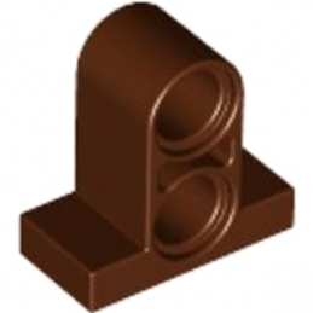 LEGO 4260407 T-BEAM W. PLATE 1X2 W. TUBE - REDDISH BROWN