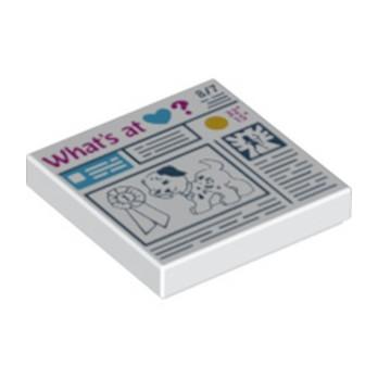 6115167 - Plate Lisse 2x2 Friends - Blanc