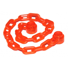 LEGO 6114250 CHAINE 16M - ORANGE FLUO TRANSPARENT