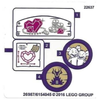 Stickers / Autocollant Lego Elves - 41177