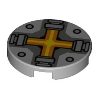 LEGO 6132542 IMPRIME ROND 2X2 - MEDIUM STONE GREY