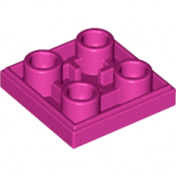 LEGO 6097031 - Plate Lisse 2x2 Inversé - Bright Reddish Violet