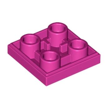 LEGO 6097031 PLATE LISSE 2x2 INVERSE - MAGENTA