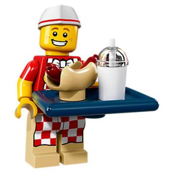Mini Figurine Lego® Série 17 - le vendeur de hot-dogs