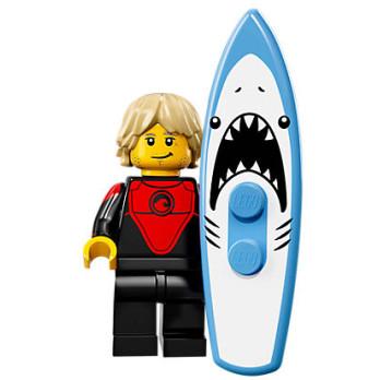 Mini Figurine Lego® Série 17 -  le surfeur pro