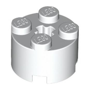 LEGO 614301 BRIQUE RONDE Ø16 W. CROSS - BLANC