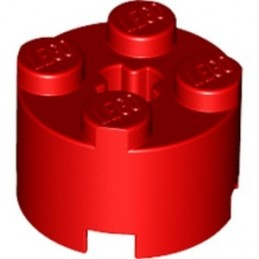 LEGO 614321 BRIQUE RONDE Ø16 W. CROSS - ROUGE