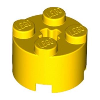 LEGO 614324 BRIQUE RONDE Ø16 W. CROSS - JAUNE