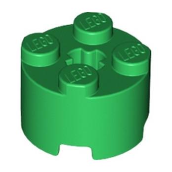 LEGO 4251378 BRICK Ø16 W. CROSS - DARK GREEN