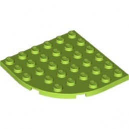 LEGO 6129601 - PLATE 6X6 W. BOW - Bright yellowish green