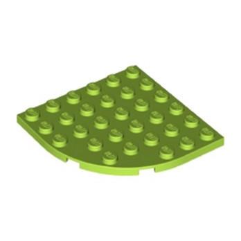 LEGO 6129601 - PLATE 6X6 W. BOW -  Bright yellowish green