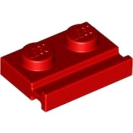 4612575	PLATE 1X2 WITH SLIDE - Bright Red