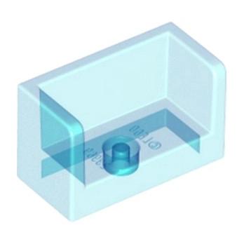 LEGO 6138481 - Cloisons 1X2X1- Bleu Transparent