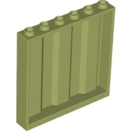 LEGO 6136741 MUR / CLOISON CONTAINER 1X6X5 - OLIVE GREEN