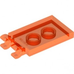 6133781 - PLATE 2X3 W. HOLDER - Orange Fluo Transparent
