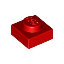 LEGO 302421 PLATE 1X1 - ROUGE lego-302421-plate-1x1-rouge ici :