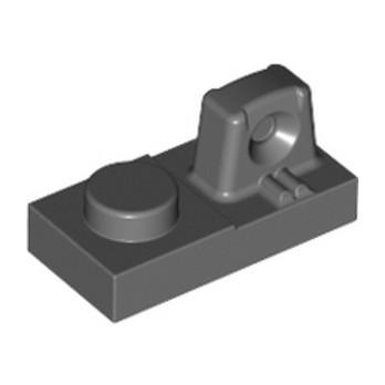 LEGO 4210726 PLATE 1X2 W/STUB/ALONG/UPPER P - DARK STONE GREY