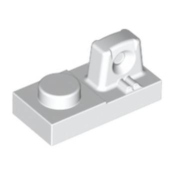 LEGO 4213031 PLATE 1X2 W/STUB/ALONG/UPPER P - BLANC