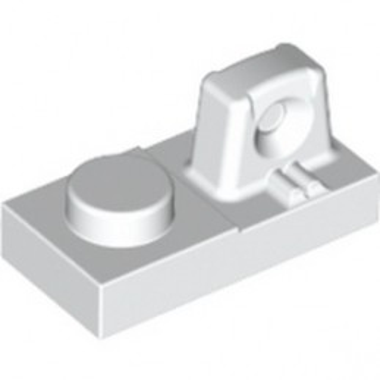 LEGO 6265695 PLATE 1X2 W/STUB/ALONG/UPPER P - BLANC