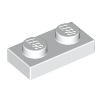 LEGO 302301 PLATE 1X2 - BLANC
