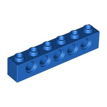 LEGO 389423 - TECHNIC BRIQUE 1X6, Ø4,9 - BLEU lego-389423-technic-brique-1x6-o49-bleu ici :