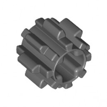 LEGO 6012451 GEAR WHEEL T8, M1 Ø10 - DARK STONE GREY