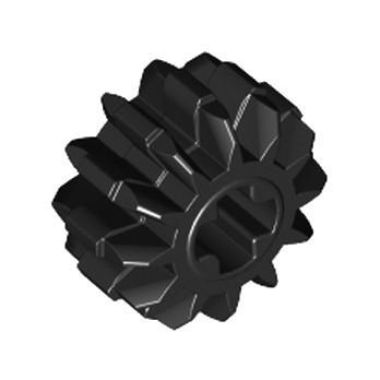 LEGO 4177431 DOUBLE CONICAL WHEEL Z12 1M Ø13 - BLACK